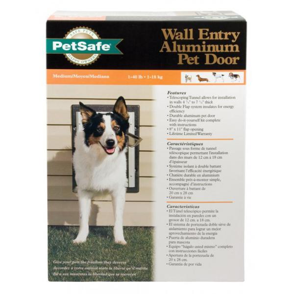 Petsafe Premium Wall Entry Aluminum Pet Door Medium Pan Pacific Pet