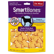 SmartBones Bacon & Cheese MINI 24 pk