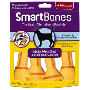 SmartBones Bacon & Cheese MED 4 pk