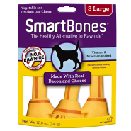 SmartBones Bacon & Cheese LG 3 pk