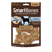 SmartBones Classic Bone Chews Peanut Butter MINI 8 pk