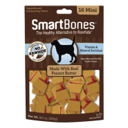SmartBones Classic Bone Chews Peanut Butter MINI 16 pk