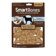 SmartBones Classic Bone Chews Peanut Butter MINI 24 pk