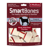 SmartBones Classic Bone Chews Chicken MED 4 pk