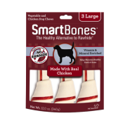 SmartBones Classic Bone Chews Chicken LG 3 pk