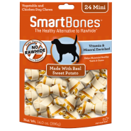SmartBones Classic Bone Chews Sweet Potato MINI 24 pk