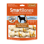 SmartBones Classic Bone Chews Sweet Potato SM 6 pk