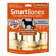 SmartBones Classic Bone Chews Sweet Potato MED 4 pk