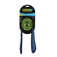 Hero Soft Rubber Treat Ball w/ Squeaking Tug Ears 19x3.5""