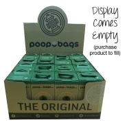 Original PoopBags Cardboard Counter Display for 12/120 ct