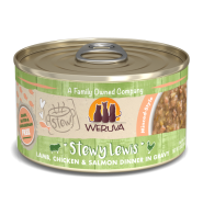Weruva Cat Stews Stewy Lewis Lamb Chicken & Salmon 12/2.8 oz