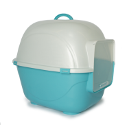 "Cat Litter Pan w/Hood & Door Small 19.5 x 16.3 x 16"" Blue"