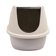 Cat Litter Box w/Hood & Door Small 20.7 x 15.7 x 15""
