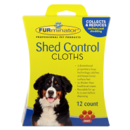 Furminator Dog Shed Control Cloths 12 ct