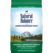 NB LID Dog Lamb Meal & Brown Rice 4.5 lb