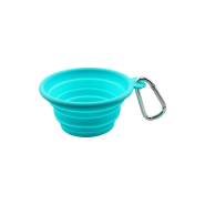 FFD Pet Silicone Collapsible Travel Bowl Teal XS