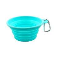 FFD Pet Silicone Collapsible Travel Bowl Teal MED