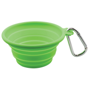 FFD Pet Silicone Collapsible Travel Bowl Lime MED
