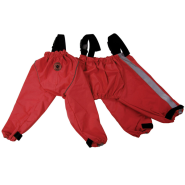 Foufou Dog Bodyguard Protective All-Weather Pants Red SM