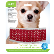 Foufou Cooling Collar Red Small