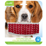 Foufou Cooling Collar Red Large