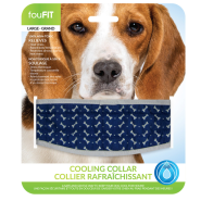 Foufou Cooling Collar Blue Large