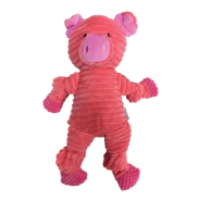 "Foufou Animal Buddies Knotted Toy Small 10"" Pig"