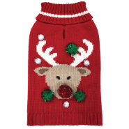Foufou Ugly Holiday Sweater LG Reindeer