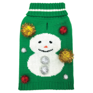 Foufou Ugly Holiday Sweater LG Snowman