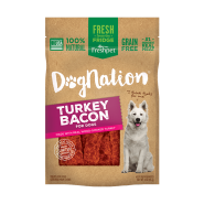 Dog Nation Turkey Bacon Treats 3 oz