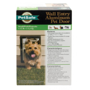 PetSafe Premium Wall Entry Alluminum Pet Door Small