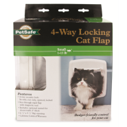 PetSafe Cat Door 4-Way Locking White