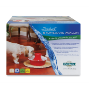 Drinkwell Pet Red Stoneware Avalon Fountain 70 oz