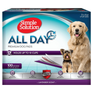"Simple Solution All Day Premium Dog Pads 23""x24"" 100 ct"