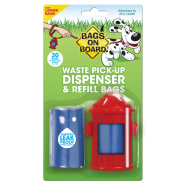 Bags On Board Hydrant Dispenser Red 30 bags