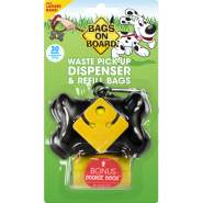 Bags On Board Bone Dispenser Black 30 bags