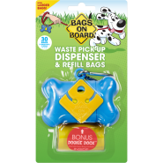 Bags On Board Bone Dispenser Blue 30 bags