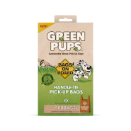 Bags On Board Green-Pups Pick-up Handle Tie Bags 100 ct