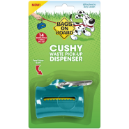 Bags on Board Cushy Dispenser Teal 14 bags