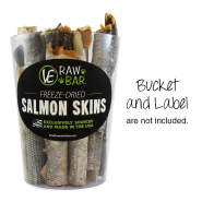 Vital Essentials Raw Bar Freeze Dried Salmon Skins 20 ct