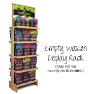 Vital Essentials Branded 5 Shelf Empty Wooden Display Rack