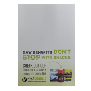 Vital Essentials Raw Benefits Shelf Talker