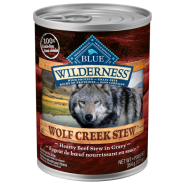 Blue Wilderness Dog GF Wolf Creek Stew Beef 12/12.5 oz