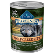 Blue Wilderness Dog GF Wolf Creek Stews Duck 12/12.5 oz