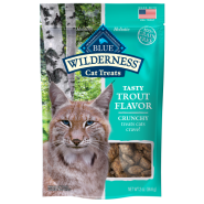 Blue Wilderness GF Cat Crunchy Treats Trout 2 oz