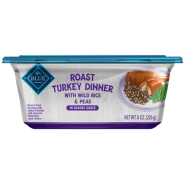 Blue Homestyle Dog Roast Turkey Wild Rice and Peas 8/8 oz