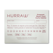 Hurraw Frequent Buyer Card/Envelope