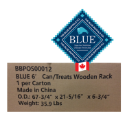 Blue Wooden Rack for Cans or Treats 6