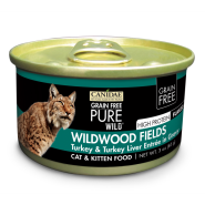 Canidae GF Pure Wild Cat Trky and Trky Liver 18/3 oz