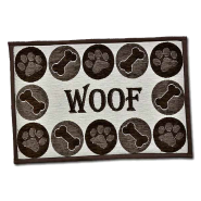 Bella Fashion Dog Woof Chenille Mat